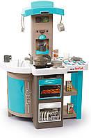 Интерактивная кухня Smoby Toys Тефаль Повар раскладная с эффектом кипения Голубая (312201)
