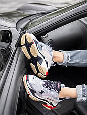 Кроссовки женские Balenciaga Triple S серые-металлик (Top replic), фото 3
