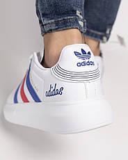 Кроссовки женские Adidas Superstar белые-полоски (Top replic), фото 3