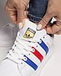 Кроссовки женские Adidas Superstar белые-полоски (Top replic), фото 6