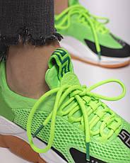 Кроссовки женские Versace Cross Chainer белые-зеленые (Top replic), фото 2