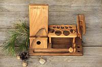 Настольный деревянный женский органайзер
