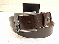 Мужской кожаный ремень D&G, коричневый ремень
