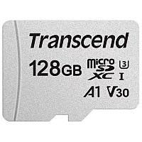 Карта памяти MicroSDXC 128GB UHS-I/U3 Class 10 Transcend 300S A1 + SD-adapter (TS128GUSD300S-A)