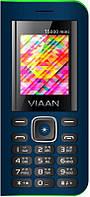 "Мобильный телефон Viaan V11 Dual Sim Blue; 1.77"" (160х128) TN / клавиатурный моноблок / 32 МБ встроенной + microSD до 32 ГБ / камера 0.3 Мп / 2G (GSM)"