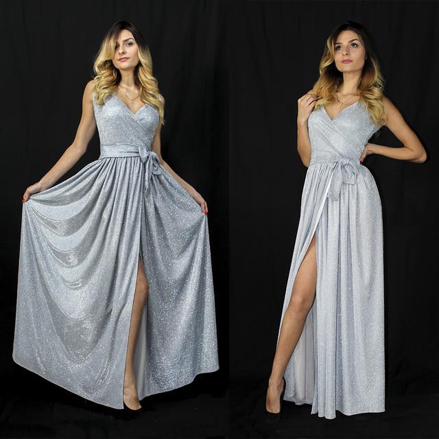 Нарядное платье в пол с люрекса