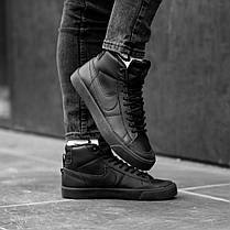 """Зимние кроссовки на меху Nike Blazer SB """"Черные"""", фото 3"""