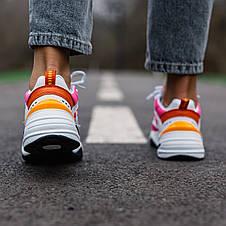 Кроссовки женские Nike M2K Tekno белые-оранжевые-розовые (Top replic), фото 2