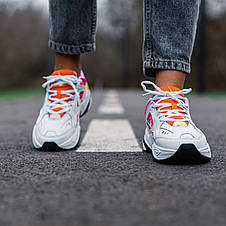 Кроссовки женские Nike M2K Tekno белые-оранжевые-розовые (Top replic), фото 3