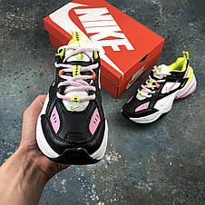 Кросівки жіночі Nike M2K Tekno чорні-рожеві (Top replic), фото 2