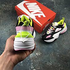 Кросівки жіночі Nike M2K Tekno чорні-рожеві (Top replic), фото 3