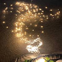 """Гирлянда """"Конский хвост"""" 160 LED: 8 линий по 1.1 м, 20 диодов/ нить, цвет - тёпло-белый, постоянное свечение"""