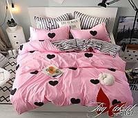 Двухспальный комплект постельного белья с компаньоном ТМ TAG ранфорс R4137 / комплект постільної білизни