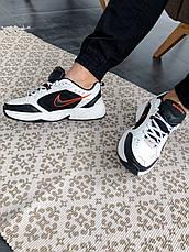 Кроссовки женские Nike Air Monarch IV белые-черные (Top replic), фото 3
