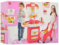 Детский игровой набор «Кухня» с посудой,тележкой., фото 1
