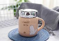 """Чашка """"I must go to"""", мікс, Кружка керамическая с зеркальной крышкой """"Зверьки"""", фото 8"""