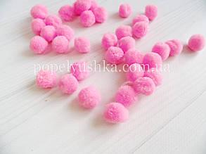 Помпони 2 см темно-рожеві (50 шт)