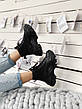 Кроссовки женские Prada Milano Sneakers Block (высокие) черные (Top replic), фото 5