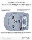 Доводчик с фиксацией двери серебро RYOBI 2550 DS-2550 SILVER BC STD_HO_ARM EN_1-4 до_80кг 1100мм, фото 5
