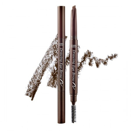 Карандаш для бровей Etude House Drawing eye brow pencil 01 dark brown