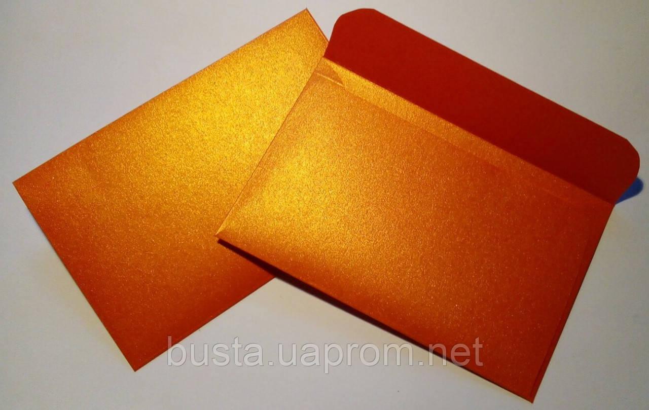 Конверт оранж золото 125гр 140х90