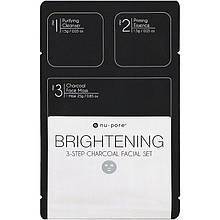 """Осветляющий 3-х ступенчатый набор для лица Nu-Pore """"Brightening 3-Step Charcoal Facial Set"""" с углем (1 шт)"""