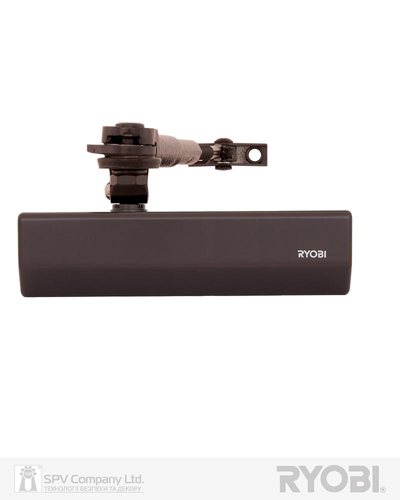 Доводчик с регулировкой захлопывания RYOBI 2550 DS-2550 DARK_BRONZE BC STD_HO_ARM EN_1-4 до_80кг 1100мм