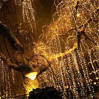Уличная Гирлянда Конский Хвост (Дреды) 700 LED Тепло-Белая, для помещений и для улицы: пучок 28 линий по 2,5 м