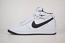 Теплые кроссовки женские Nike Air Force 1 AF1 (МЕХ) белые (Top replic), фото 2