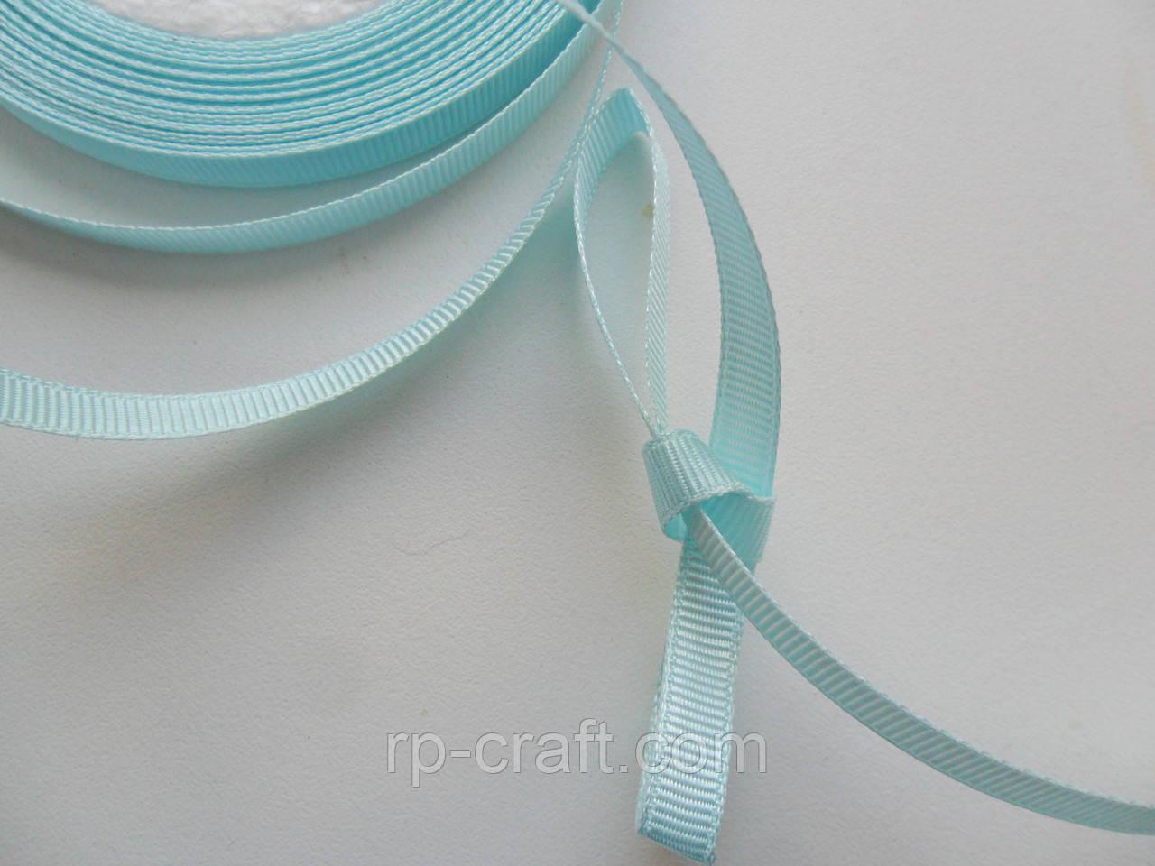 Стрічка репсова 6 мм, блідо-блакитна