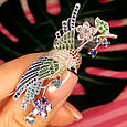 Серебряная брошь Райская Птичка -  Красивая женская серебряная брошь с птицей, фото 7