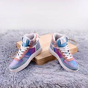 Теплые кроссовки женские Louis Vuitton Boombox Trainer Boots фиолетовые (Top replic), фото 3