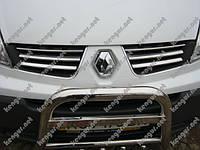 Хром Накладки на решетку (нерж.) на Renault Trafic
