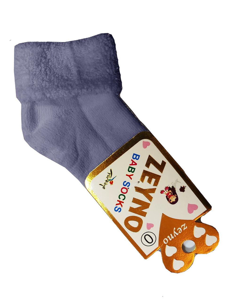 Шкарпетки теплі махрові 0 міс (сірий)