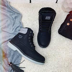 Ботинки зимние женские Dual /черные, 36-41, dr-101/
