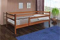 Детская Кровать Микс Мебель Уют Соня с ограждением ольха