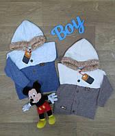 Детская кофта для мальчика с капюшоном на пуговичках турецкая,Интернет магазин,Детская одежда Турция,вязаная