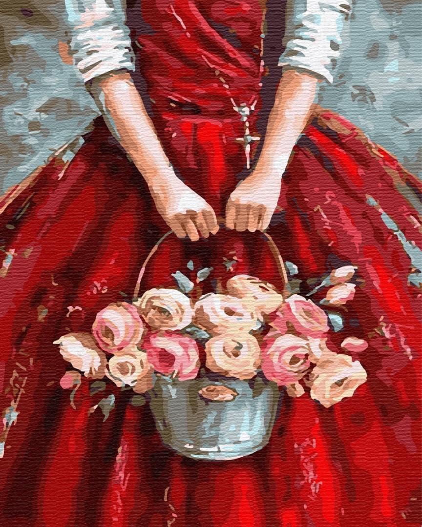Картина по номерам Цветы в корзине GX30231 Brushme 40 х 50 см (без коробки)