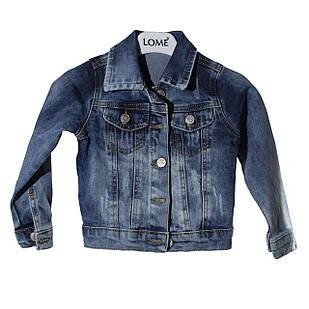 Джинсова куртка для дівчинки, розмір 3, 4, 6, 7 років