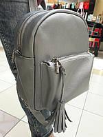 Сумка женская Sambag Рюкзак городской для женщин Серый с Экокожи Размеры в ассортименте (4983651)