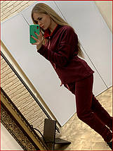 Спортивный костюм на флисе ~Prime~ бордо, фото 3