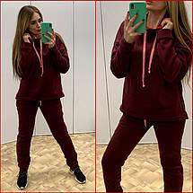 Спортивный костюм на флисе ~Prime~ бордо, фото 2