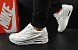 Кроссовки Nike Air Max 90 арт 20604 (мужские, белые, найк), фото 3