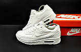 Кроссовки Nike Air Max 90 арт 20604 (мужские, белые, найк), фото 8
