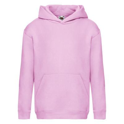 Толстовка с капюшоном детская (подростковая) под принт зимняя светло-розовая - 116
