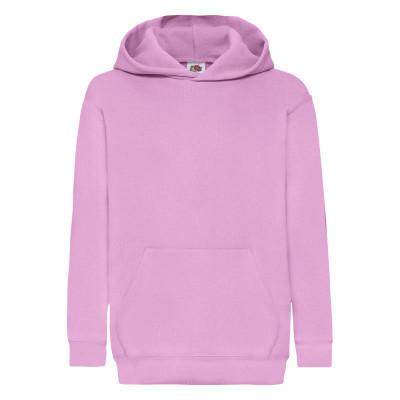 Зимняя подростковая (детская) худи двухнить на флисе светло-розовая - 116