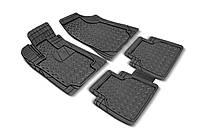 Набір універсальних килимків з ПВХ CRYSTAL 4шт., чорні