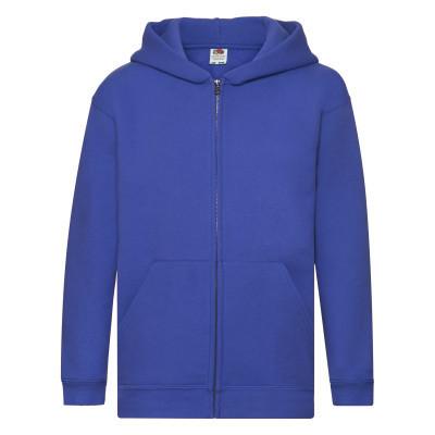 Ярко-синяя подростковая (детская) толстовка с капюшоном на молнии зимняя