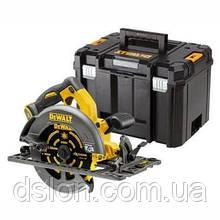 Пила дисковая аккумуляторная DeWALT DCS576NT, 54 В, XR FLEXVOLT, Li-lon, вес: 3,7 кг, чемодан.