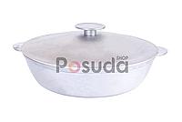 Сковорода жаровня алюминиевая литая с крышкой Биол 30 см А304